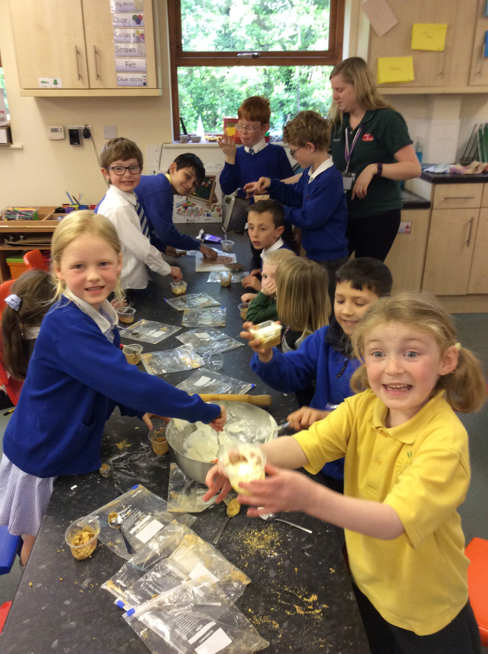 After School Club Making Cheesecake